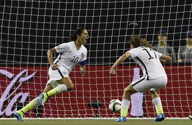 Carli Lloyd (10) and the U.S. Women's Team are favored over Japan in the World Cup final. (Getty)