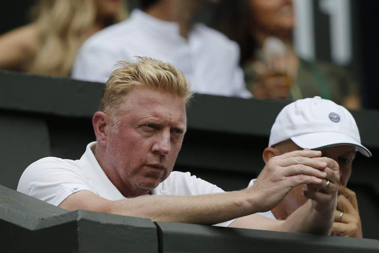 Serbia's Novak Djokovic's German coach Boris Becker watches Djokovic play against Finland's Jarkko Nieminen during their men's singles second round match on day three of the 2015 Wimbledon Championships at The All England Tennis Club in Wimbledon, southwest London, on July 1, 2015.   RESTRICTED TO EDITORIAL USE  --   AFP PHOTO / ADRIAN DENNIS        (Photo credit should read ADRIAN DENNIS/AFP/Getty Images)