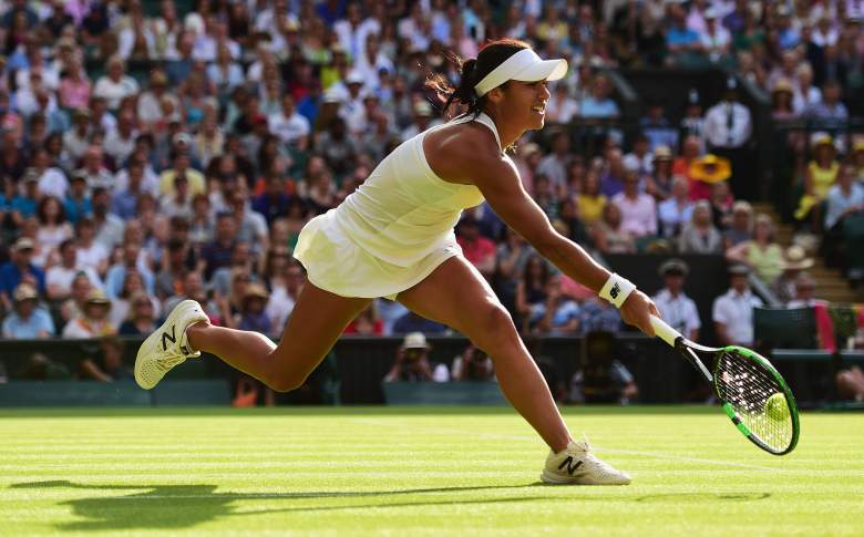 during day five of the Wimbledon Lawn Tennis Championships at the All England Lawn Tennis and Croquet Club on July 3, 2015 in London, England.