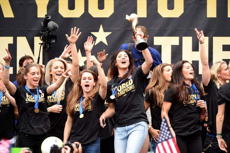 The U.S. Women's Soccer Team will be honored with a ticker-tape parade Friday in New York City. (Getty)