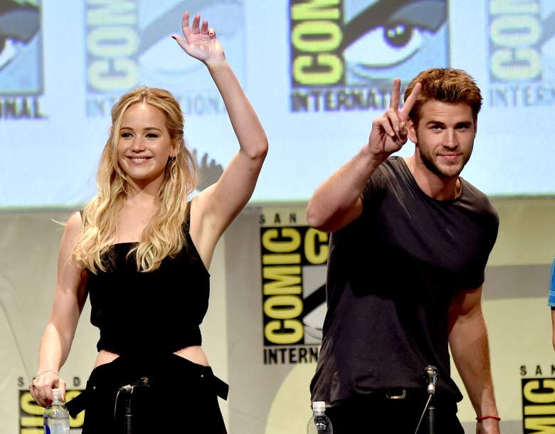 """speaks onstage at the """"The Hunger Games: Mockingjay Part 2"""" panel during Comic-Con International 2015 at the San Diego Convention Center on July 9, 2015 in San Diego, California."""