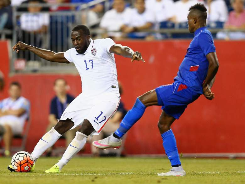 <>during the 2015 CONCACAF  Gold Cup Group A match between United States and Haiti at Gillette Stadium on July 10, 2015 in Foxboro, Massachusetts.