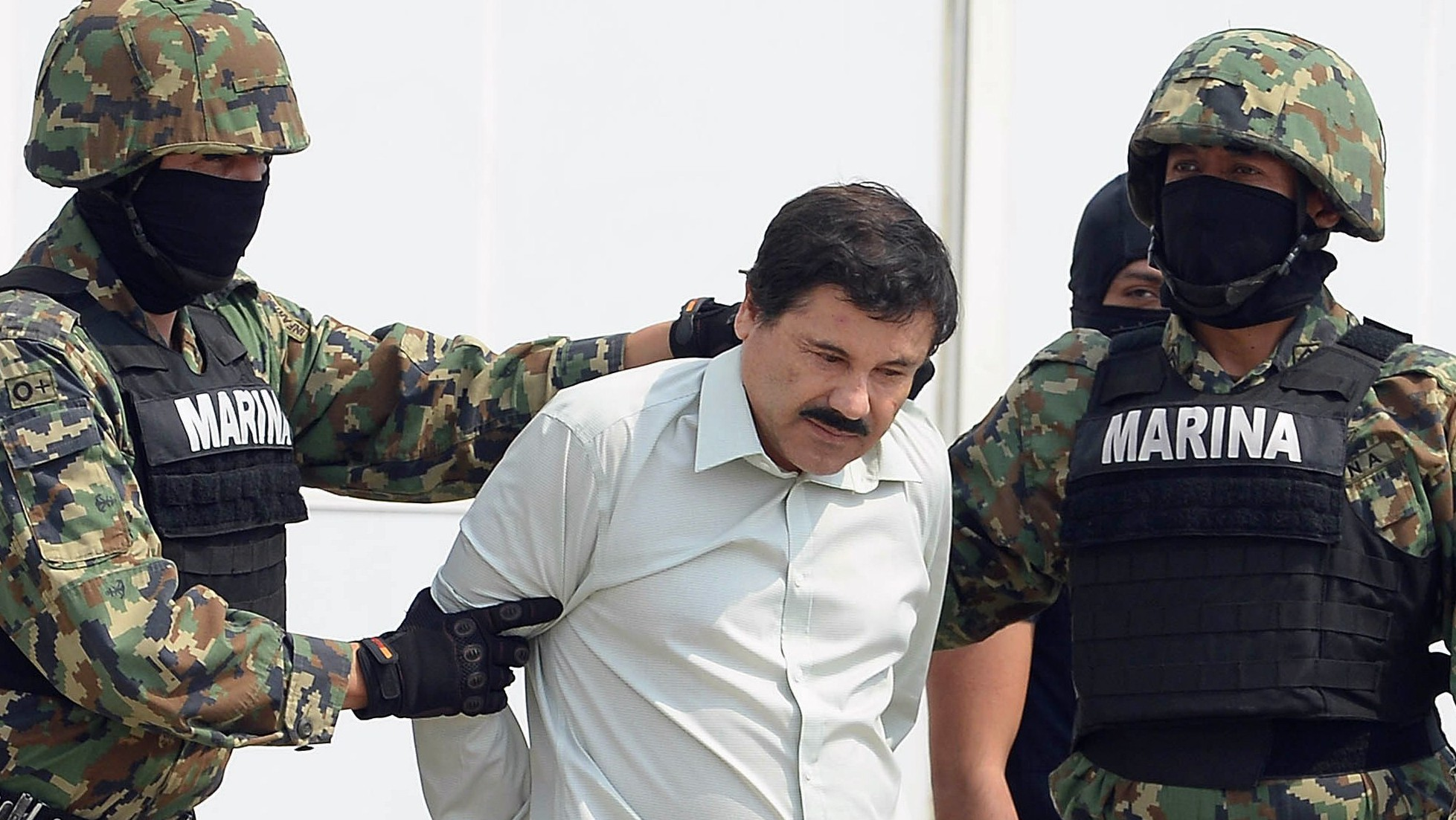 """El Chapo"" Guzman after his arrest in February 2014. (Getty)"