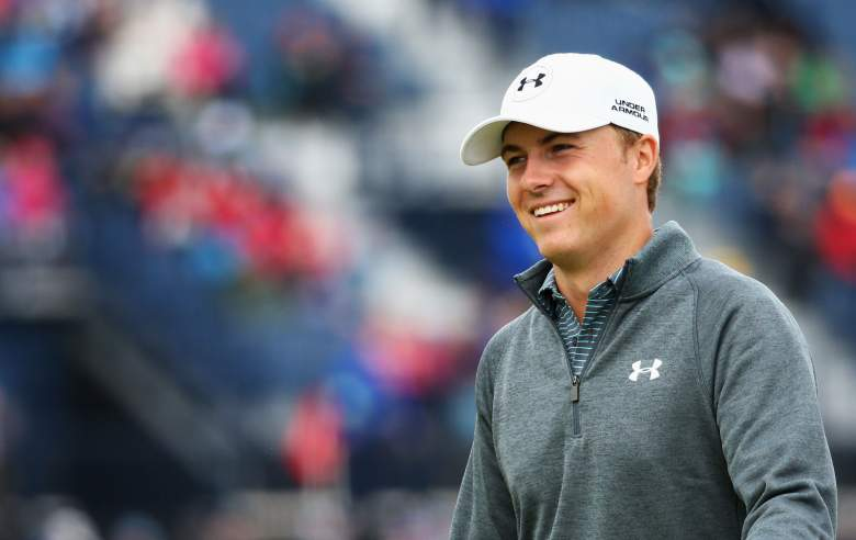 Jordan Spieth is a shot off the lead at the British Open. (Getty)