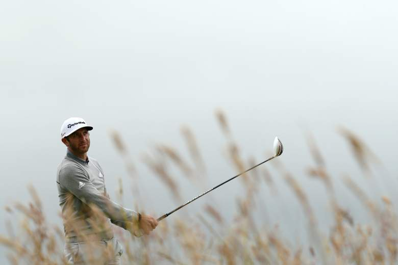 Dustin Johnson leads after the first round of the British Open. (Getty)