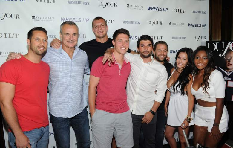 NEW YORK, NY - JULY 16: Patriots football player Rob Grownkowski with father Gordon Grownkowski and guests attend DuJour Magazine's Jason Binn and Casa de Campo's celebration of Rob Gronkowski with Bruce Weber presented by Absolut Elyx & Wheels Up on July 16, 2015 in New York City. (Photo by Craig Barritt/Getty Images for DuJour)