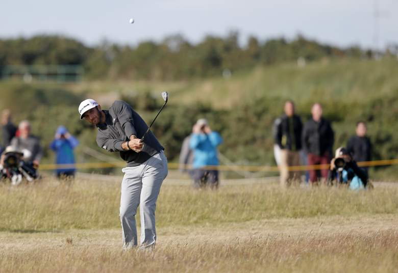 Dustin Johnson leads the British Open after 2 rounds. (Getty)