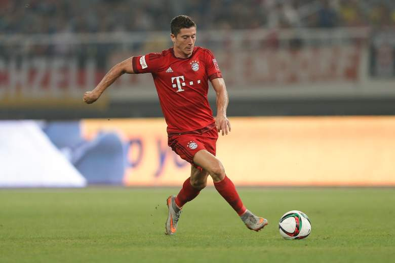 Robert Lewandowski fired 25 goals in his first season with Bayern Munich. (Getty)