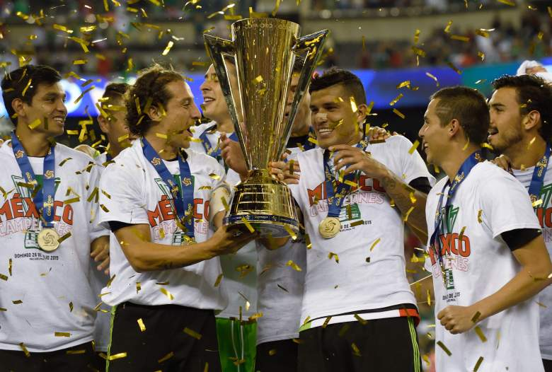 Mexico celebrates their victory in the 2015 CONCACAF Gold Cup final. -Getty