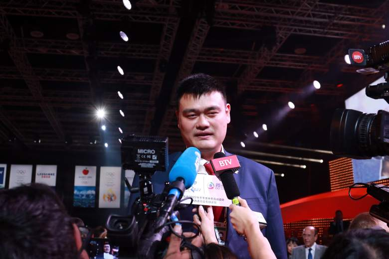 Yao Ming Speaks to Reporters (Getty)