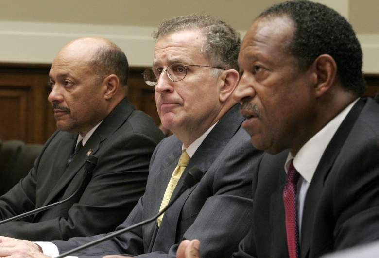 WASHINGTON - MAY 19:  (L-R)  National Football League Executive Vice President for Labor Relations Harold Henderson, National Football League Commissioner Paul Tagliabue and National Football League Players Association Executive Director Gene Upshaw appear before the House Commerce, Trade and Consumer Protection Subcommittee to testify about steroid use in professional sports on Capitol Hill May 19, 2005 in Washington, DC. Tagliabue voiced his opposition to H.R. 1862, the Drug Free Sports Act, which calls for standard steroid testing across all U.S. sports. (Photo by Chip Somodevilla/Getty Images)