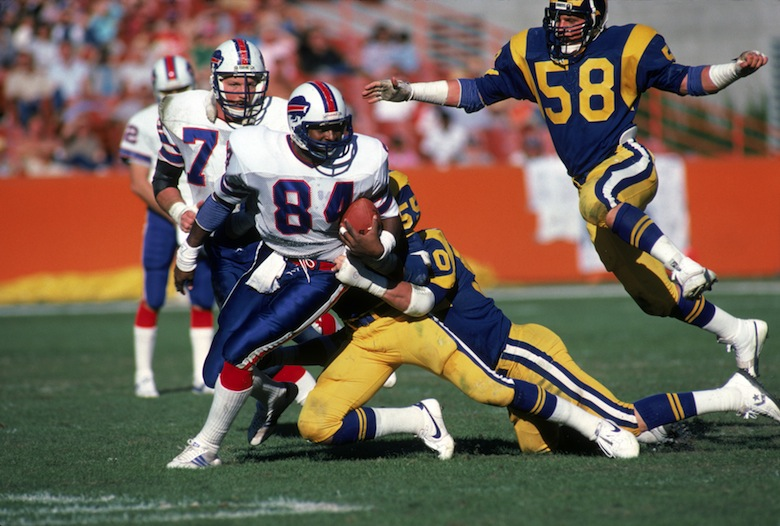 Barnett plays against the Rams in 1983. (Getty)
