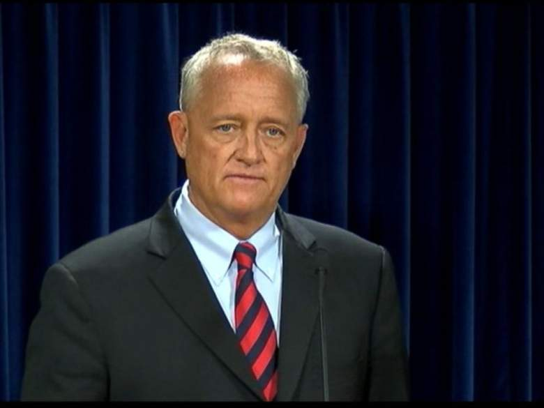 Hamilton County Prosecutor Joe Deters appears in a June 29th press conference announcing the indictment of former UC Police Officer Ray Tensing. (Screen grab from released video)