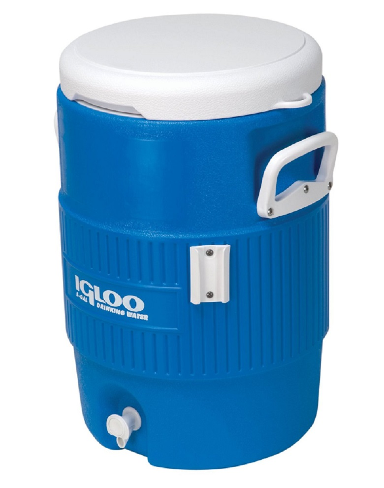 Igloo Seat Top Beverage Cooler with Cup Dispenser (5-Gallon, Ocean Blue), igloo seat top beverage cooler, igloo cooler, seat top cooler, beverage cooler, water cooler