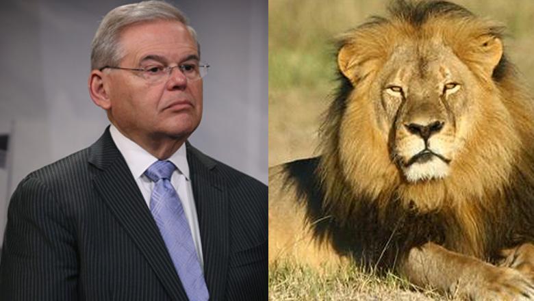 cecil the lion, zimbabwe, walter palmer, Senator Robert Menendez