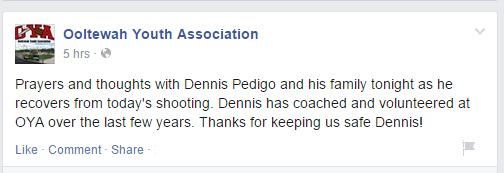 Dennis Pedigo, Chattanooga shooting, Ooltewah Youth Association