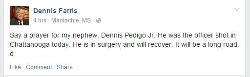 Dennis Pedigo, Facebook, Chattanooga shooting