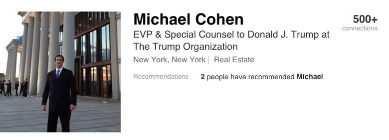 Michael Cohen LinkedIn
