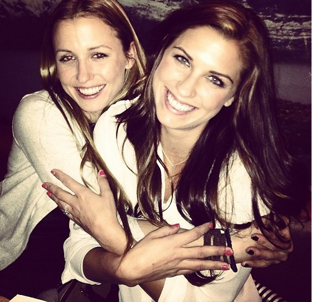 Alex Morgan (R) with her older sister, Jeri. She has another sister, Jennifer, who is the oldest of the trio. (Instagram/alexmorgan13)