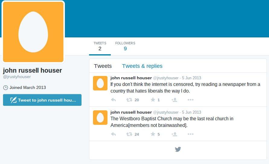 Houser's Twitter account. (Twitter)