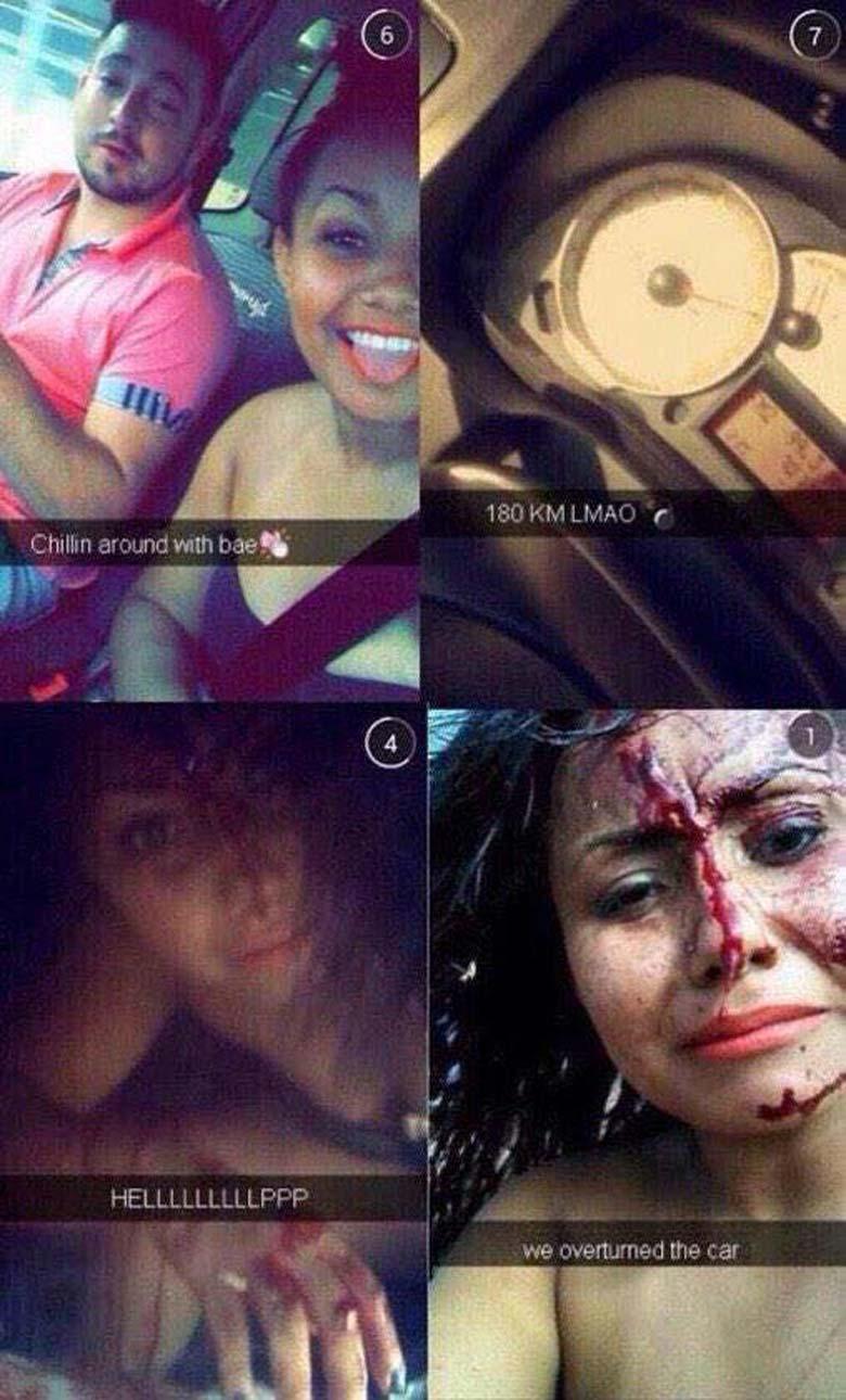 snapchat, car crash, car accident, fail