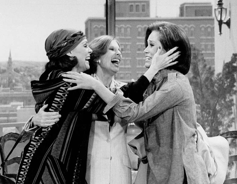 Harper with Mary Tyler Moore and Cloris Leachman on the final episode of The Mary Tyler Moore Show. (Wikpedia)