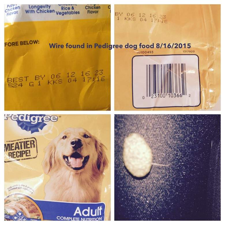 Wires in Pedigree dog food