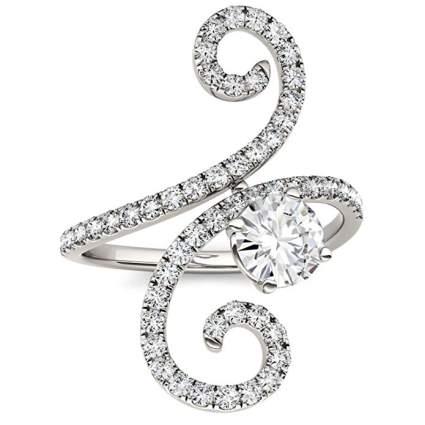 Charles & Colvard ring