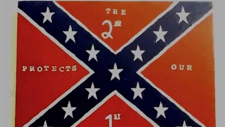 george zimmerman, Andy Hallinan, Florida Gun Supply, islam, muslims, confederate flag, painting
