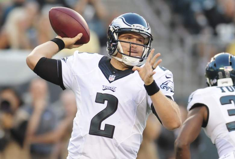 PHILADELPHIA, PA - AUGUST 28: Quarterback Matt Barkley #2 of the Philadelphia Eagles throws the ball in the first quarter of the preseason game against the New York Jets on August 28, 2014 at Lincoln Financial Field in Philadelphia, Pennsylvania. (Photo by Evan Habeeb/Getty Images)