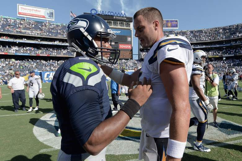 Russell Wilson and Philip Rivers faced off in the preseason. (Getty)