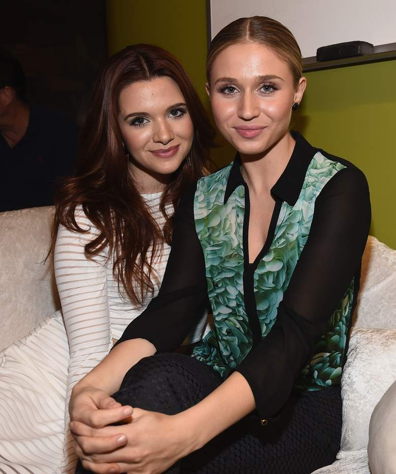 """WEST HOLLYWOOD, CA - SEPTEMBER 22: Actress Katie Stevens and actress Rita Volk attend a screening of """"Faking It"""" Season 2 at The Village at Ed Gould Plaza on September 22, 2014 in West Hollywood, California. (Photo by Michael Buckner/Getty Images for MTV)"""