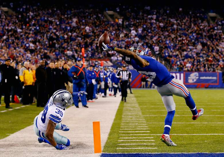Odell Beckham Jr. of the Giants figures to be one of the higher scoring receivers in fantasy football in 2015. (Getty)