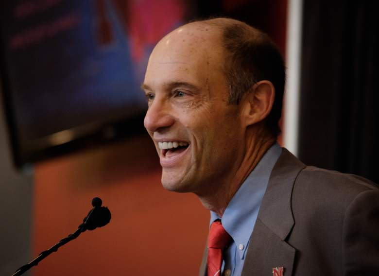 LINCOLN, NE - DECEMBER 5: Mike Riley, newly hired head football coach at the University of Nebraska, talks with members of the media during a press conference inside Memorial Stadium December 5, 2014 in Lincoln, Nebraska. (Photo by Eric Francis/Getty Images)