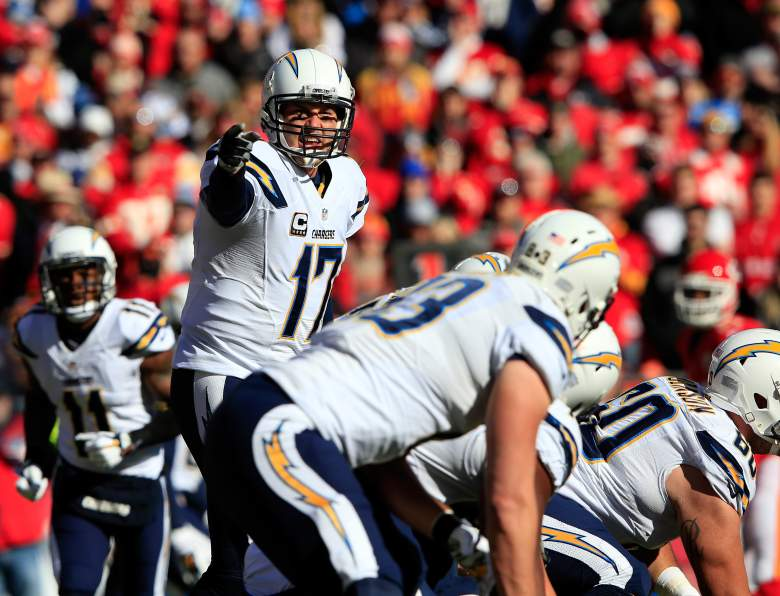 The Chargers are on the board. (Getty)