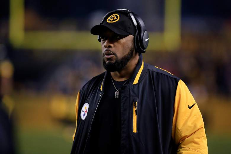 PITTSBURGH, PA - JANUARY 03: Head coach Mike Tomlin of the Pittsburgh Steelers looks on against the Baltimore Ravens during their AFC Wild Card game at Heinz Field on January 3, 2015 in Pittsburgh, Pennsylvania. (Photo by Justin K. Aller/Getty Images)