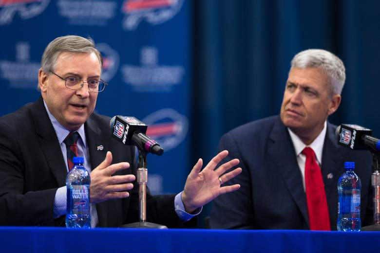 Rex Ryan is introduced as the Bills head coach in January. (Getty)