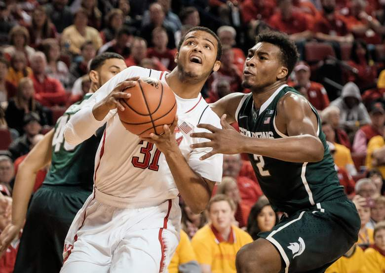 LINCOLN, NE - JANUARY 24: Shavon Shields #31 of the Nebraska Cornhuskers drives to the basket past Javon Bess #2 of the Michigan State Spartans during their game at Pinnacle Bank Arena January 24, 2015 in Lincoln, Nebraska. (Photo by Eric Francis/Getty Images)