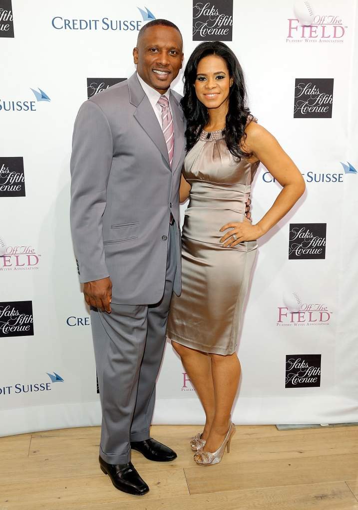 Tim and Sherice Brown at the Players Wives Association event. (Getty)