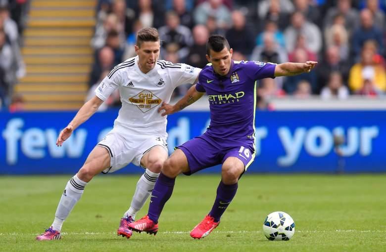 Manchester Citys Sergio Aguero led the Premier League in scoring last season. Getty)