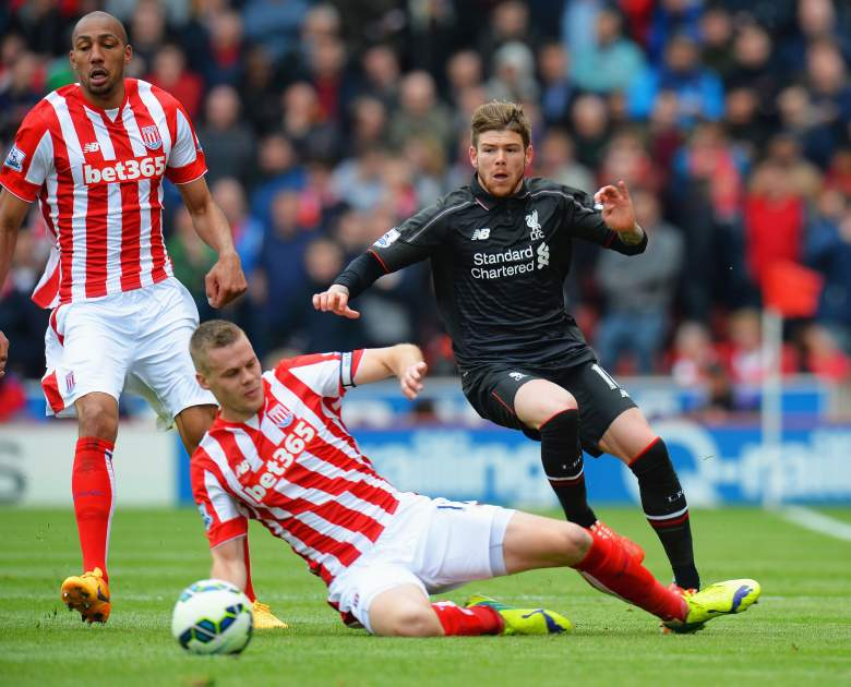 Stoke defender Ryan Shawcross L) may be on the sidelines due to a lingering back injury. Getty)