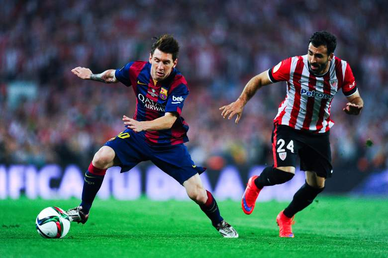 Lionel Messi was in top form in Barcelona's opener, scoring twice. (Getty)