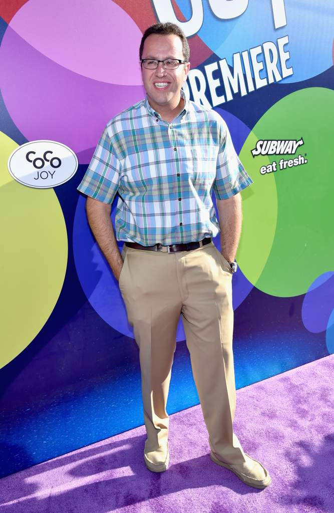HOLLYWOOD, CA - JUNE 08: Subway spokesperson Jared Fogle attends the Los Angeles Premiere and Party for Disney•Pixar's INSIDE OUT at El Capitan Theatre on June 8, 2015 in Hollywood, California.  (Photo by Alberto E. Rodriguez/Getty Images for Disney)