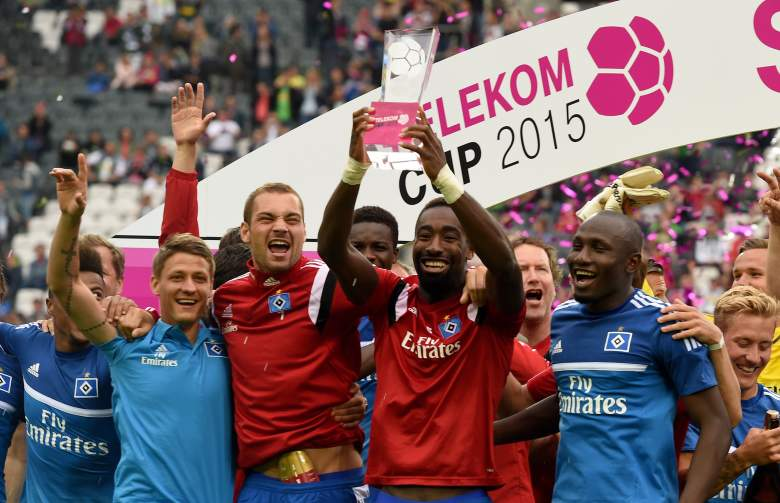 Hamburg won the Telekom Cup in July Getty)