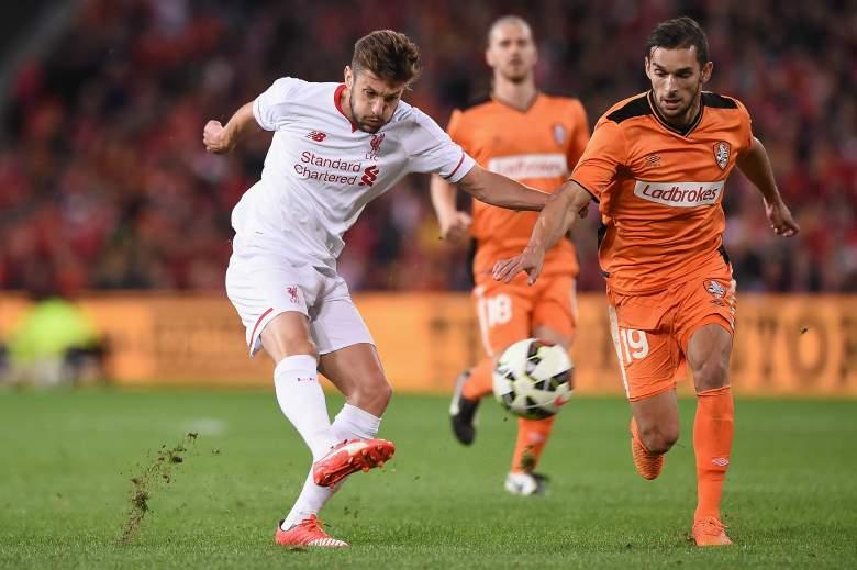 Liverpool midfielder Adam Lallana. Getty)