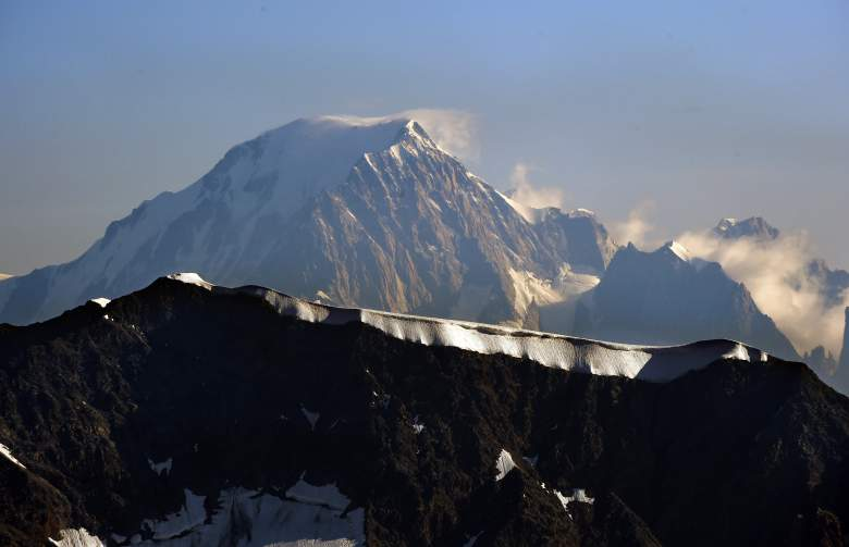 A picture taken on July 22, 2015 in Tignes, southeastern France, shows the Italian side (Northern side) of the Mont Blanc, the highest mountain in the Alps. AFP PHOTO / LOIC VENANCE        (Photo credit should read LOIC VENANCE/AFP/Getty Images)