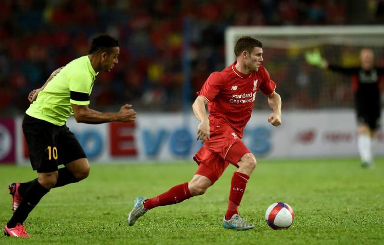 James Milner R) transferred from Manchester City to Liverpool over the summer. Getty)