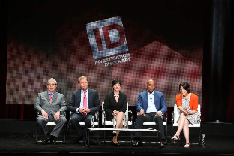 BEVERLY HILLS, CA - JULY 30:  (L-R) Hosts Lt. Joe Kenda, Chris Hansen, Candice DeLong, Tony Harris and Senior Vice President of Production for Sara Kozak speak onstage during the 'A New Season of ID' panel discussion at the Investgation Discovery portion of the 2015 Summer TCA Tour at The Beverly Hilton Hotel on July 30, 2015 in Beverly Hills, California.  (Photo by Frederick M. Brown/Getty Images)