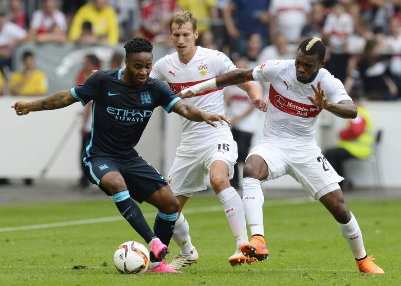 Raheem Sterling (L) will be counted on to make plays for Manchester City this season. (Getty)