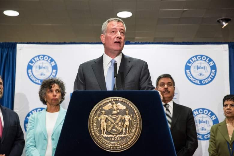 NYC Mayor De Blasio Discusses Legionnaire's Disease Outbreak In The Bronx (Getty)